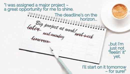 Barrier to starting on a big project Temporal Discounting